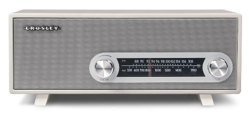Crosley CR3022A-WH Ranchero Retro AM/FM Tabletop Radio with 3-inch Studio Driver (White)