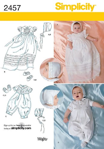 Simplicity Sewing Pattern 2457 Babies' Special Occasion, A (XXS-XS-S-M) (Christening Gown Sewing Pattern compare prices)
