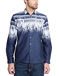 Locomotive Men's Casual Shirt (15110001471395_LMSH010644_L_White)