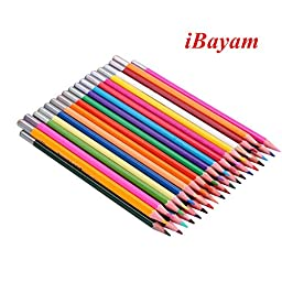 Bayam Watercolor Pencil / 36 Colored Pencils/ Water Soluble Coloring Pencil Set/ Hb /Metal Tin Case/ Assorted Colors Best Art Coloring, Painting, Sketching for Kids/ Teens/ Adults (36 colors)