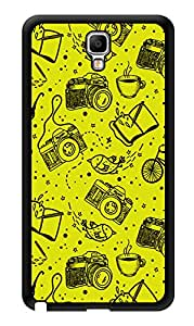"Humor Gang Cameras In Yellow Printed Designer Mobile Back Cover For ""Samsung Galaxy Note 3"" (3D, Glossy, Premium Quality Snap On Case)"