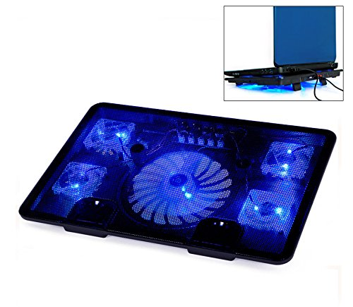 Best Prices! Welltop® Notebook Laptop cooling pads 5 Fans Laptop Cooler Laptop Cooling Rack Compute...