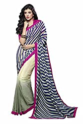 Shaily Retails Women's Georgette and Jacquard Saree