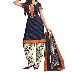 Shree Hari Creation Women's Poly Cotton Unstitched Dress Material (3617_Multi-Coloured_Free Size)