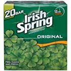 Irish Spring Deodorant Soap Original scent with Hydrobeads Value Pack - 20 Bars