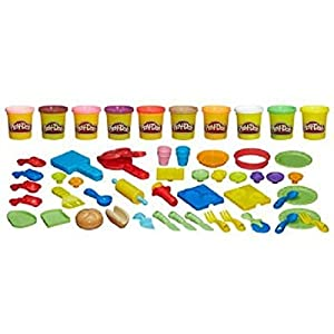 Hasbro Play-Doh Magic Chef Supreme Set, All-day Pretend Cooking Fun With Over 40 Accessories And 10 Play-Doh Colors
