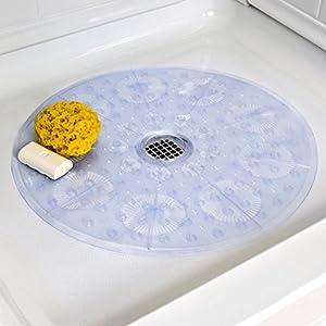 amazon com round shower mat for walk in showers non amazon com deluxe square non slip shower amp bath mat