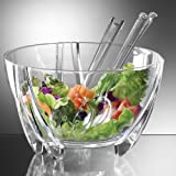 Prodyne SB-3-C Prodyne Acrylic Salad Bowl with Servers