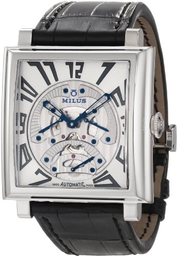 Milus Men's HERT002F Stainless Steel with White Dial Watch