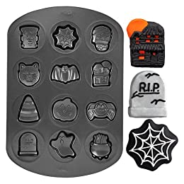Halloween Cookie Shapes Non Stick Pan : Target