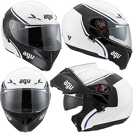 AGV Helmets 1021A2EY_002_L Casque de Moto, Blanc, Taille L