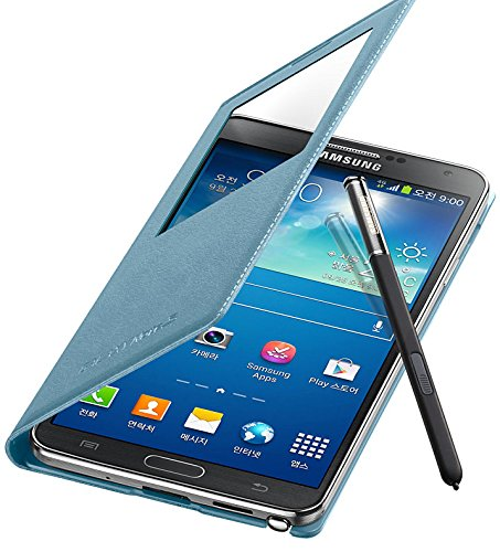 Original Samsung Galaxy Note 3 S - View Flip Cover Case (Blue Lime)