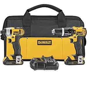 DEWALT DCK285C2 20-Volt MAX Li-Ion Compact 1.5 Ah Hammer Drill and Impact Combo Kit