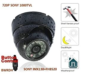BW® BWRDH CCTV Camera SONY IMX138 1000TVL HD Day and Night 3.6mm lens Korea Grey Weatherproof Dome Camera With IR-CUT function Outdoor or Indoor Use