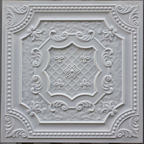PL04 en similicuir Intérieur Carreau de plafond Blanc mat pour décoration en relief de fond photosgraphie Panneaux muraux 10pieces/lot