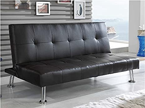 Sofa cama Valencia tapizado marron chocolate 3 plazas