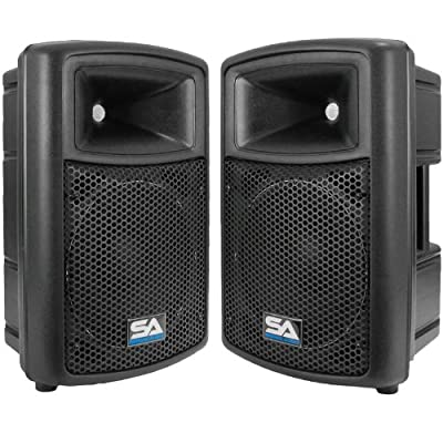 Seismic Audio NPS-10 Pro Audio PA DJ 10-Inch Speakers - Lightweight Molded Cabinets - 300 Watts