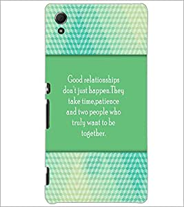 PrintDhaba Quote D-4208 Back Case Cover for SONY XPERIA Z4 (Multi-Coloured)