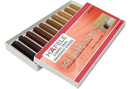 hafele-soft-wax-stick-assortment-wood-filler-pack-of-10-cherrypear-mahogany-colours