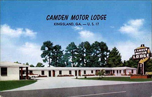 Camden Motor Lodge Kingsland, Ga Original Vintage Postcard