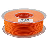 ZIRO 3D Printer Filament PLA 1.75 1KG(2.2lbs), Dimensional Accuracy +/- 0.05mm, Fluo orange from ZIRO