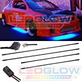 LEDGLOW Blue LED Slimline Underbody Underglow Kit