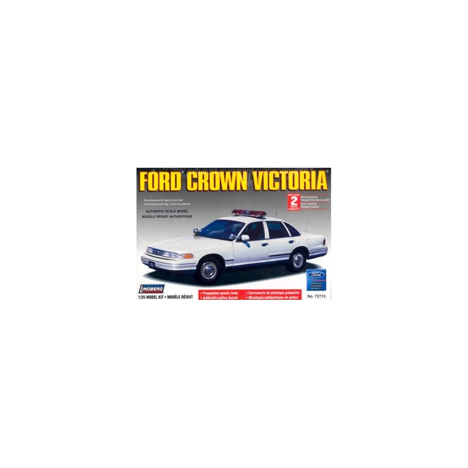 Ford Crown Victoria Police Car Plain White by Lindberg Toys & Games