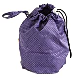 Amethyst Purple Jewel Large GoKnit Pouch Project Bag w/ Loop & Drawstring from KnowKnits