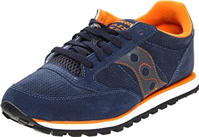 Saucony Originals Men's Jazz Low Pro Suede Running Shoe,Blue/Orange,14 M US