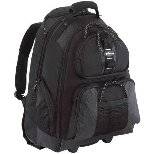 Targus Sport Rolling Backpack Case Designed for 15.4-Inch Notebooks, Black (TSB700)