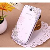 Flower Bling 3d Diamond Crystal Hard Back Cover Case for Samsung Galaxy Note 1 N7000 I9220 I717