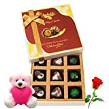 Valentine Chocholik Luxury Chocolates - Express Your Love Assorted Chocolates With Teddy And Rose