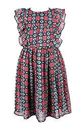CoffeeBean Kids Girls muticolor Dress (4-5 Years)