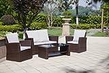 New Rattan Wicker Weave Garden Furniture Patio Conservatory Sofa Set
