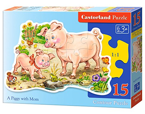 Castorland A Piggy with Mom Jigsaw Midi (15-Piece)