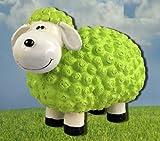 Dekofigur Schaf Susanne in grün bunte Schafe Tier Figuren für
