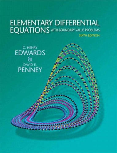 Elementary Differential Equations with Boundary Value...