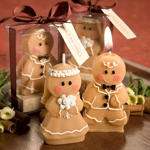 Fashioncraft Adorable Gingerbread Bride And Groom Candle