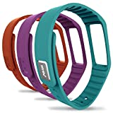 Striiv Fusion Wristband, Orange/Light Blue/Purple, One Size