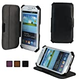 KHOMO Black Executive Leather Case With Stand for Samsung Galaxy Grand & Galaxy Grand Duos