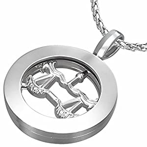Fashion Alloy Libra Zodiac Sign Inner-roller Circle Pendant