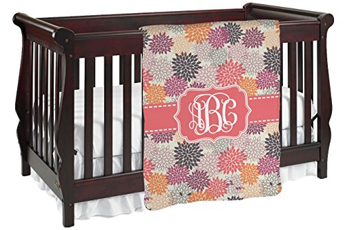 Mums Flower Personalized Baby Blanket front-308062
