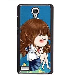 Fuson Premium 2D Back Case Cover cute baby With Multi Background Degined For Xiaomi Redmi Note::Xiaomi Redmi Note 4G