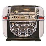 Ricatech RR700 - Jukebox compact style rétro avec lecteur CD, tuner AM/FM et entrée AUX...