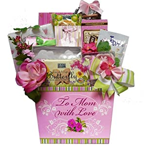 To Mom With Love Tea and Cookie Gift Basket by Art of Appreciation Gift Baskets