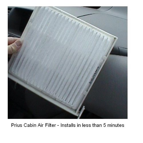 Prius Cabin Air Filter 2004 2005 2006 2007 2008 and 2009 - Aftermarket Filter, Easy Installation 87139-47010-83
