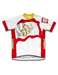Sikkim Flag Short Sleeve Cycling Jersey for Women
