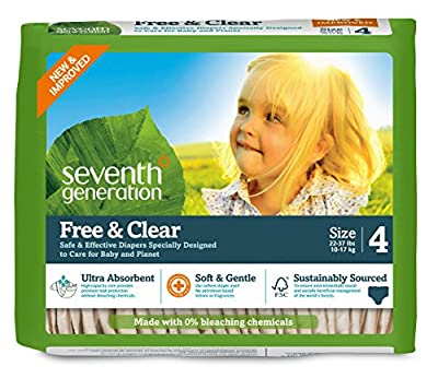 Seventh Generation Free and Clear Baby Diapers, Packaging May Vary