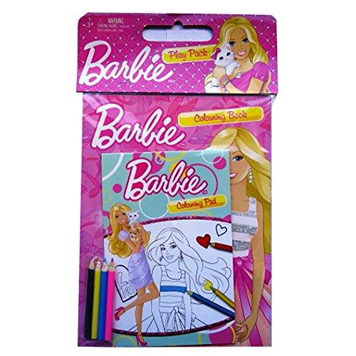 Barbie-Confezione-formato A4con A5da colorare libro illustrato-4matite colorate