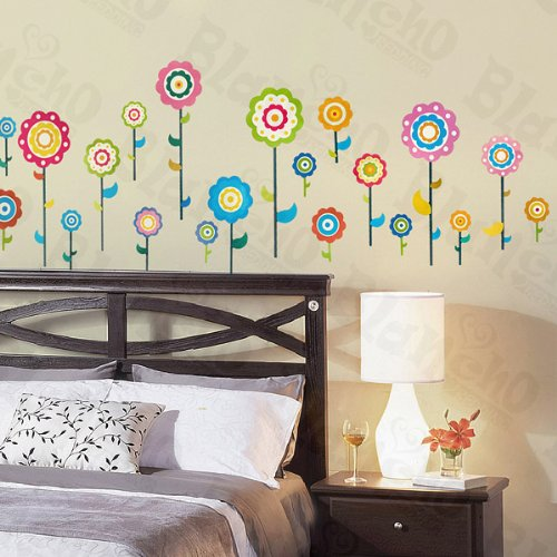 Flower Lollipop 3 - X-Large Wall Decals Stickers Appliques Home Decor